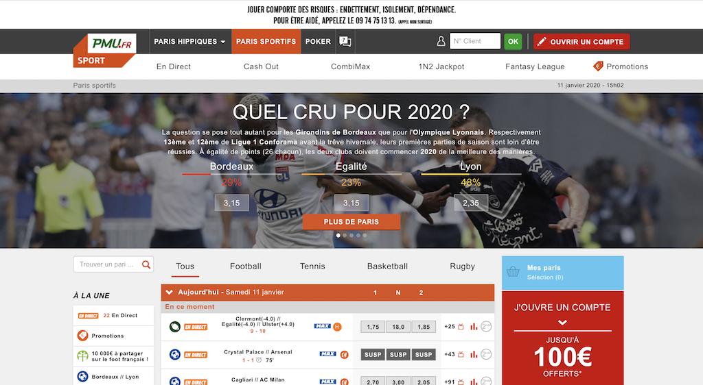 フランスのスポーツ賭博・ブックメーカーサイト