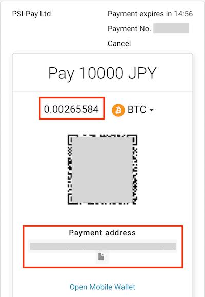 エコペイズにビットコインで入金する方法(AlternativePayment)解説3