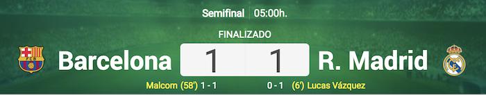 バルセロナvsレアル・マドリードの試合結果
