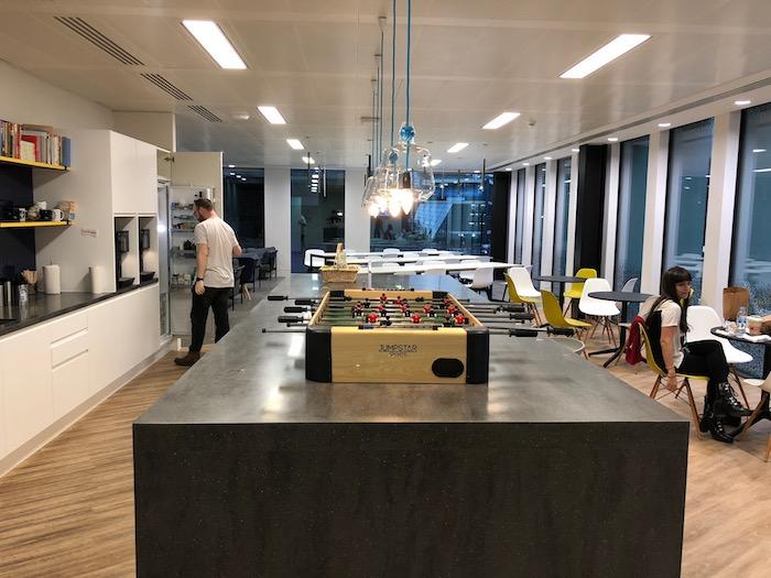 ウィリアムヒルのロンドンオフィスのキッチン&休憩所