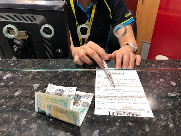 ウィリアムヒルのロンドンにある店舗での賭け方解説