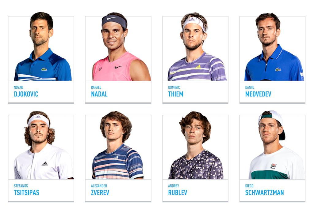 ATPファイナルズ2020出場選手